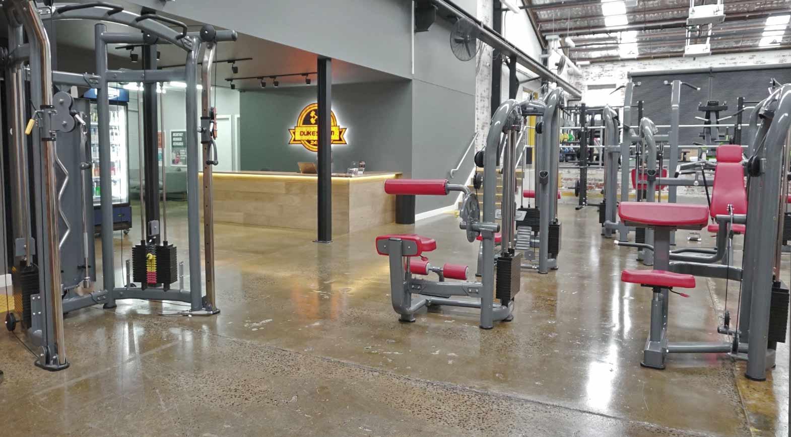 dukes gym richmond machine weights pin loaded machines