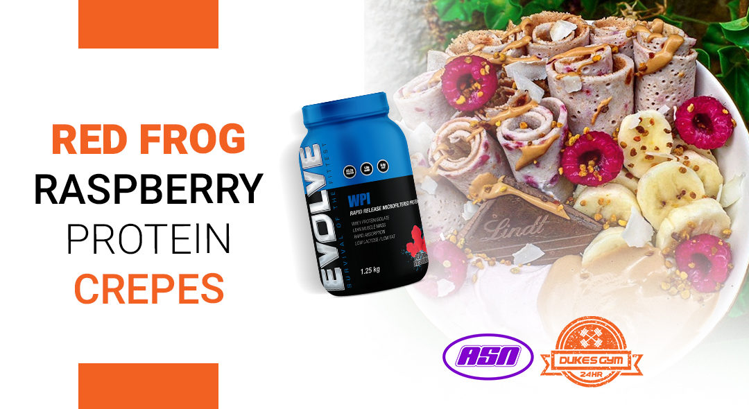 Red Frog Raspberry Protein Crepes – the ultimate fitness breakfast!